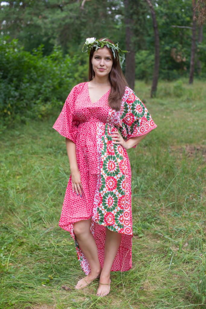 """High Low Wind Flow"" kaftan in Round and Round pattern"