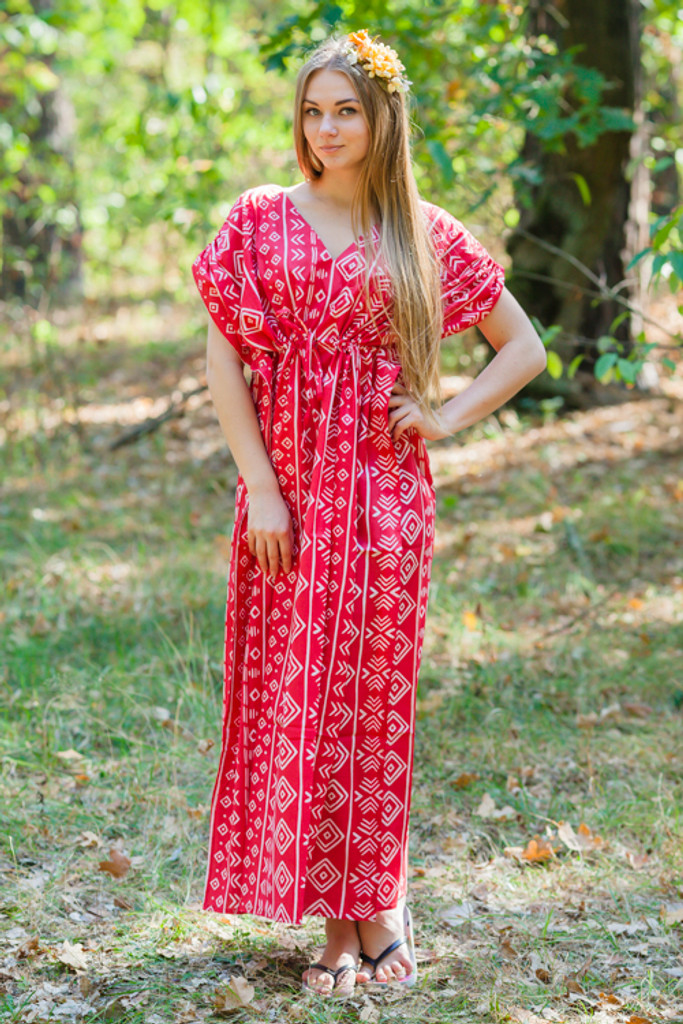 """Magic Sleeves"" kaftan in Tribal Aztec pattern"