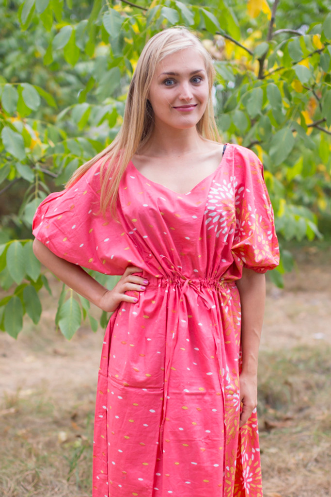 """Cut-out Cute"" kaftan in Abstract Floral pattern"