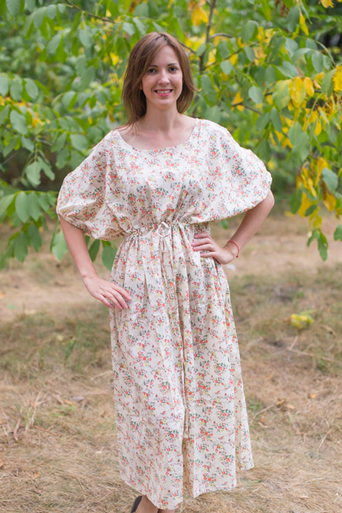"""Cut-out Cute"" kaftan in Tiny Blossoms pattern"