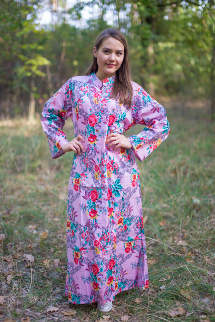 """Charming Collars"" kaftan in Cute Bows"