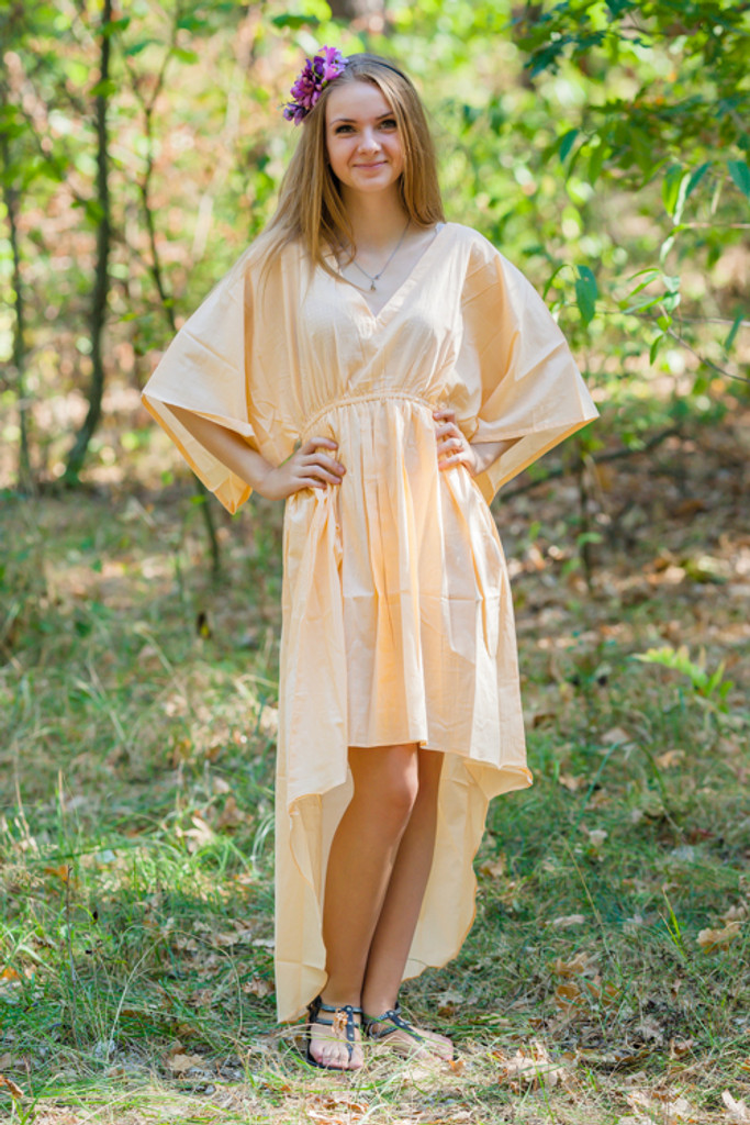 """High Low Wind Flow"" kaftan in Plain and Simple pattern"