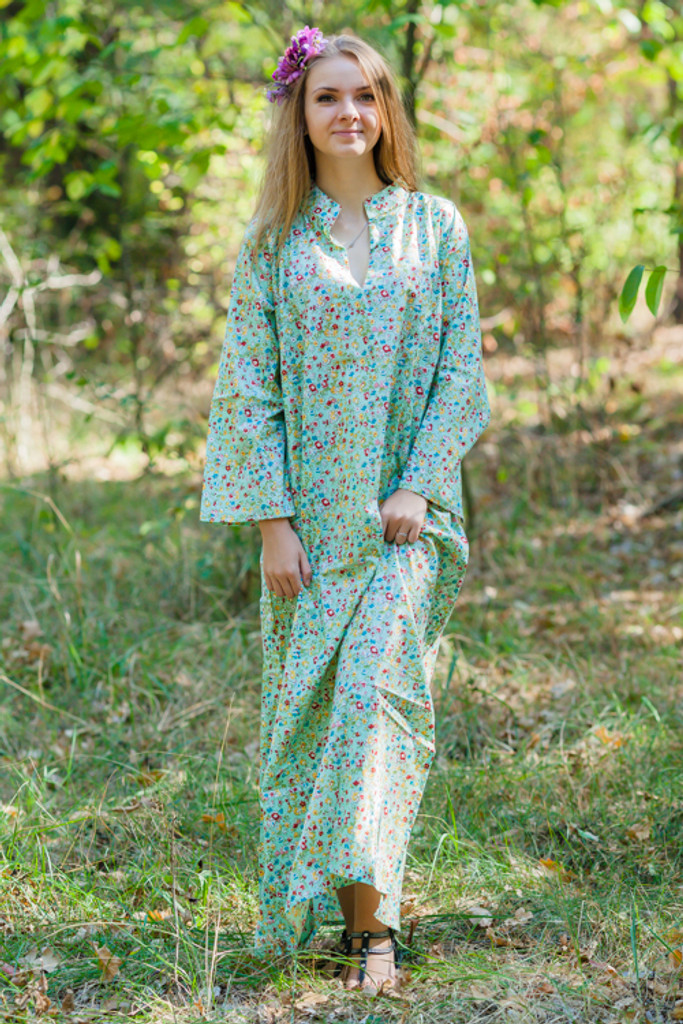 """Mandarin On My Mind"" kaftan in Petit Floral pattern"
