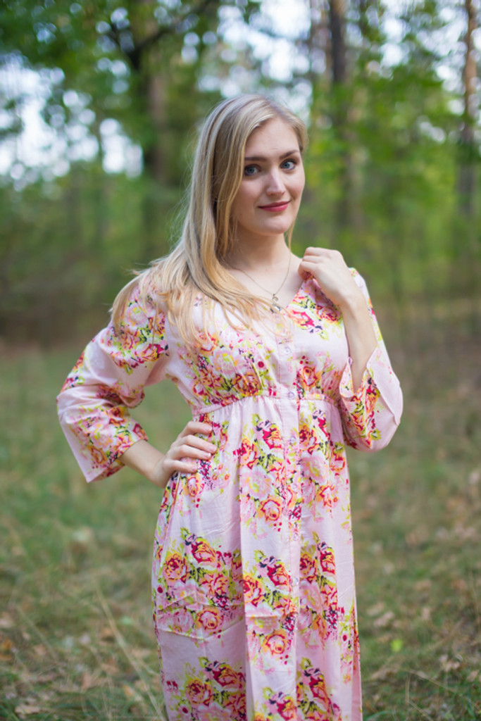 """Button me down"" in Floral Posy pattern"