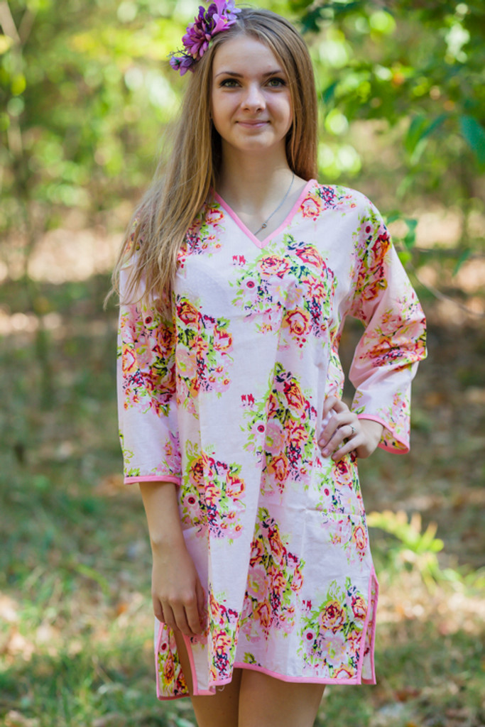 """""""Sun and Sand"""" Beach Tunic in Floral Posy pattern"""
