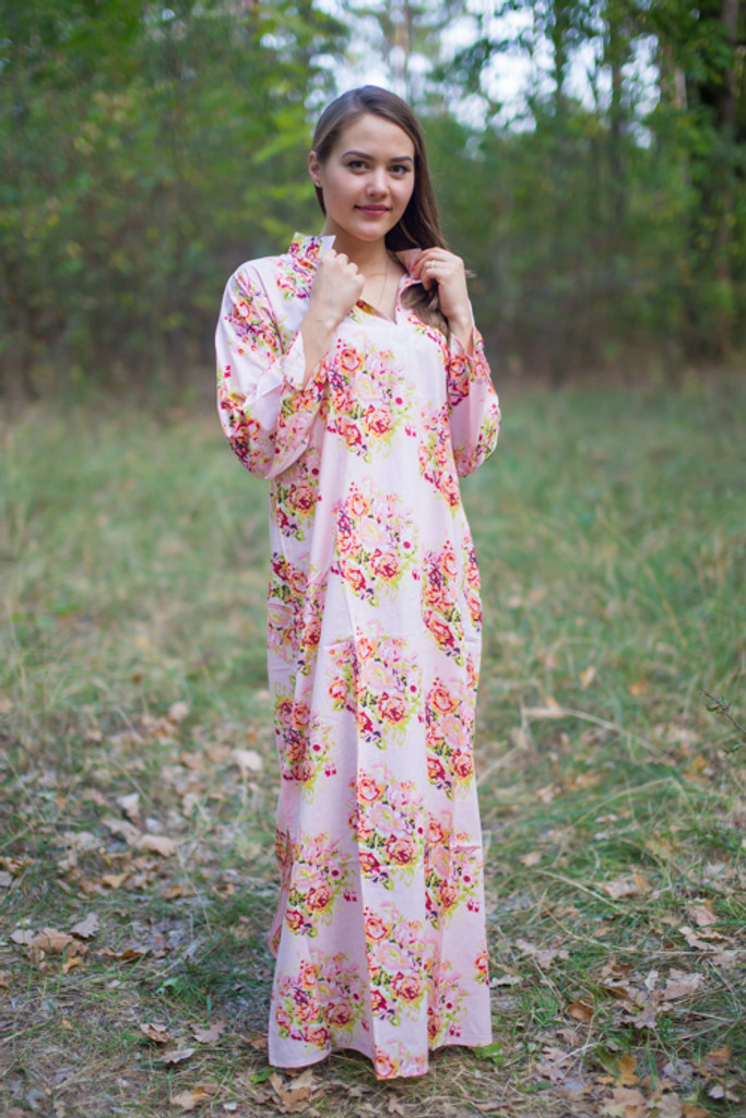 """Mandarin On My Mind"" kaftan in Floral Posy pattern"