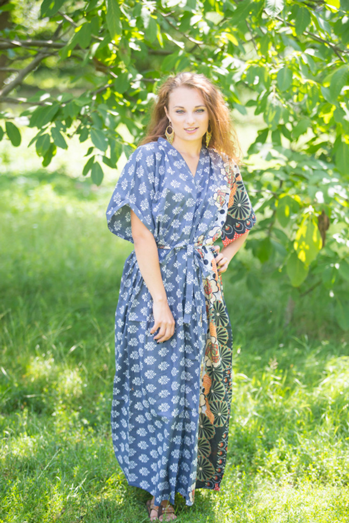 """""""Best of both the worlds"""" kaftan in Floral Bordered pattern"""