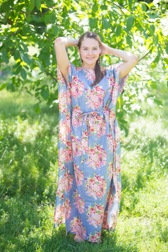"""Divinely Simple"" kaftan in Floral Posy pattern"