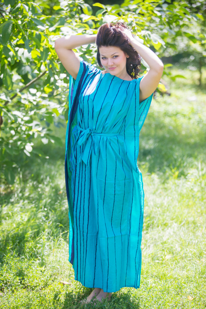 """""""Divinely Simple"""" kaftan in Multicolored Stripes pattern"""