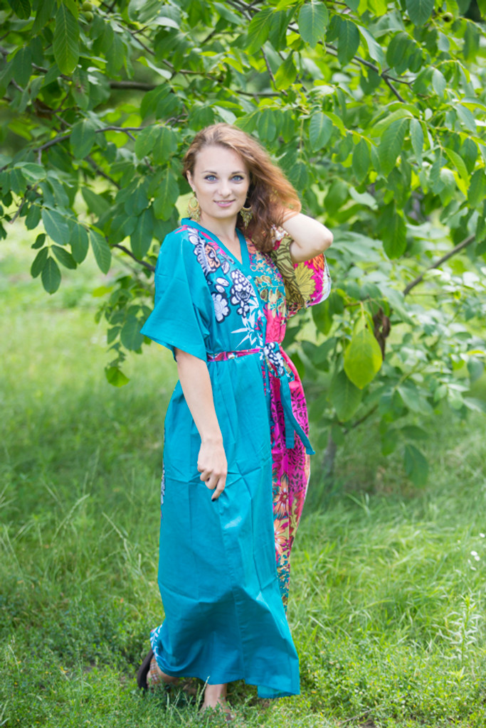 """Best of both the worlds"" kaftan in Vibrant Foliage pattern"