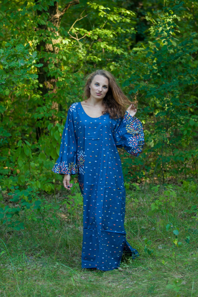 """""""Frill lovers"""" kaftan in Abstract Floral pattern"""
