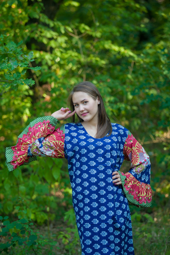 """""""Frill lovers"""" kaftan in Floral Bordered pattern"""