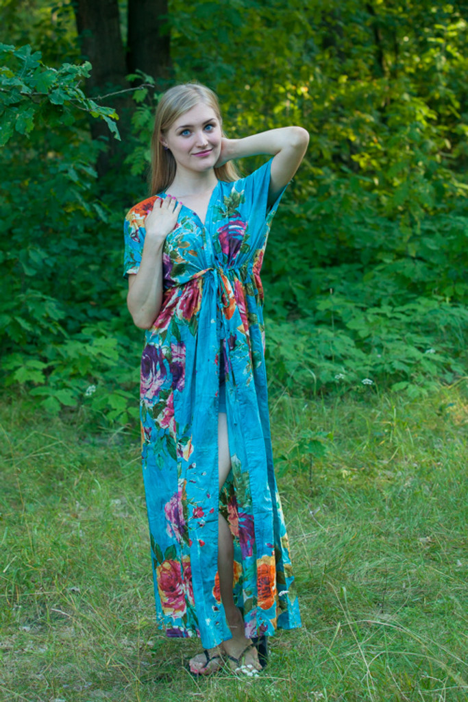 """""""Beach Days"""" kaftan in Large Floral Blossom pattern"""