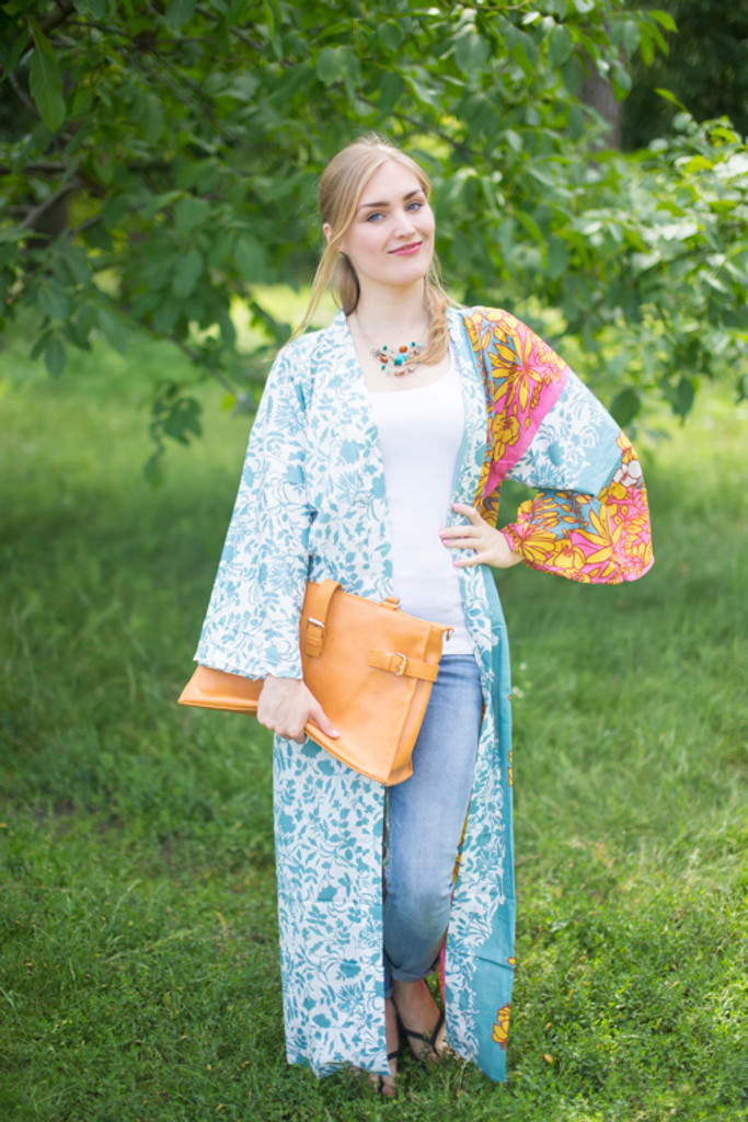 """Boho-Chic"" Kimono jacket in Falling Leaves pattern"