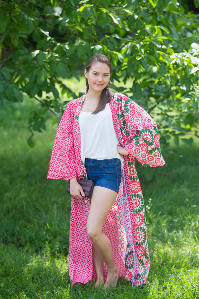 """Boho-Chic"" Kimono jacket in Round and Round pattern"