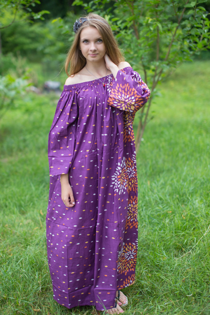 """""""Serene Strapless"""" kaftan in Abstract Floral pattern"""