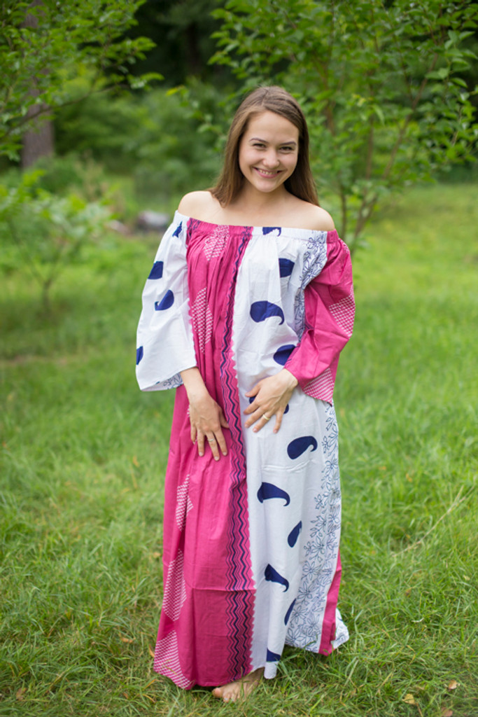 """Serene Strapless"" kaftan in Floral Perfectly Paisley pattern"