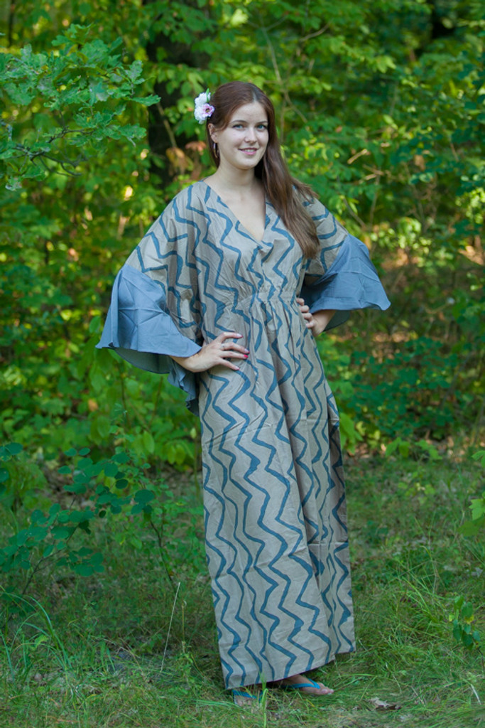 """Ballerina"" kaftan in Chevron pattern"