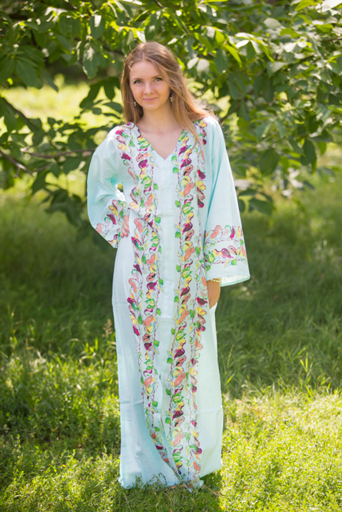 """""""The Glow Within"""" kaftan in Little Chirpies pattern"""