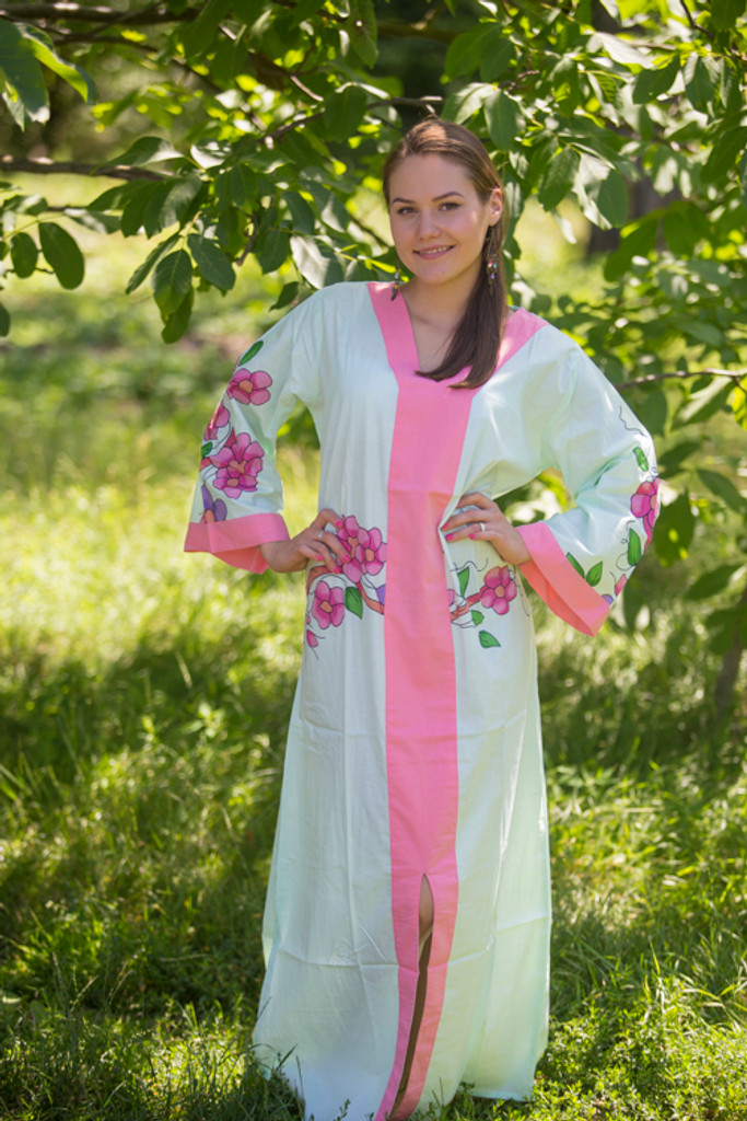 """The Glow Within"" kaftan in Swirly Floral Vine pattern"