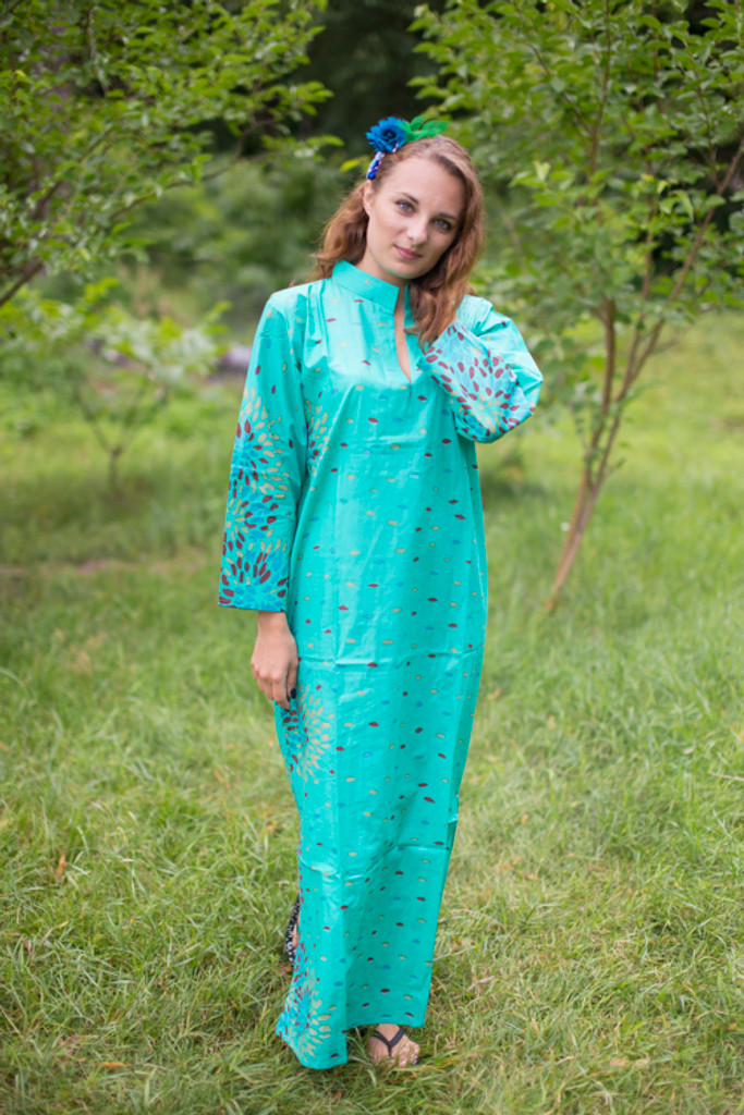 """""""Mandarin On My Mind"""" kaftan in Abstract Floral pattern"""