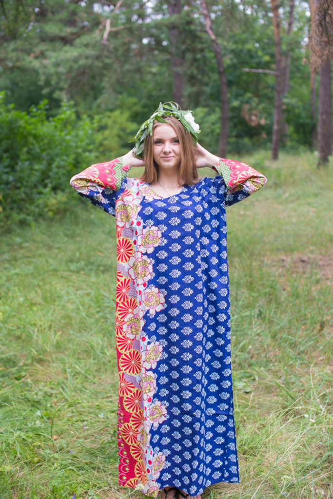 """The Unwind"" kaftan in Floral Bordered pattern"
