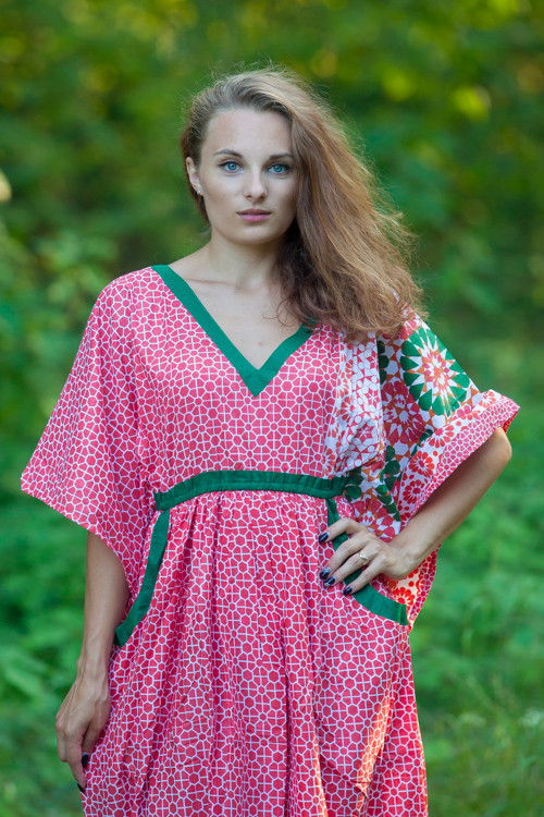 """Breezy Bohemian"" kaftan in Round and Round pattern"