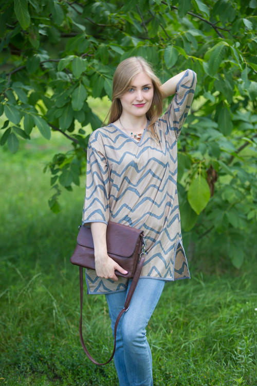"""Glam Tunics"" kaftan Top in Chevron pattern"
