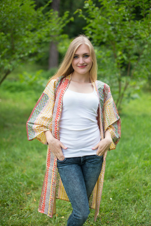"""Free Bird"" Kimono jacket in Abstract Geometric pattern"