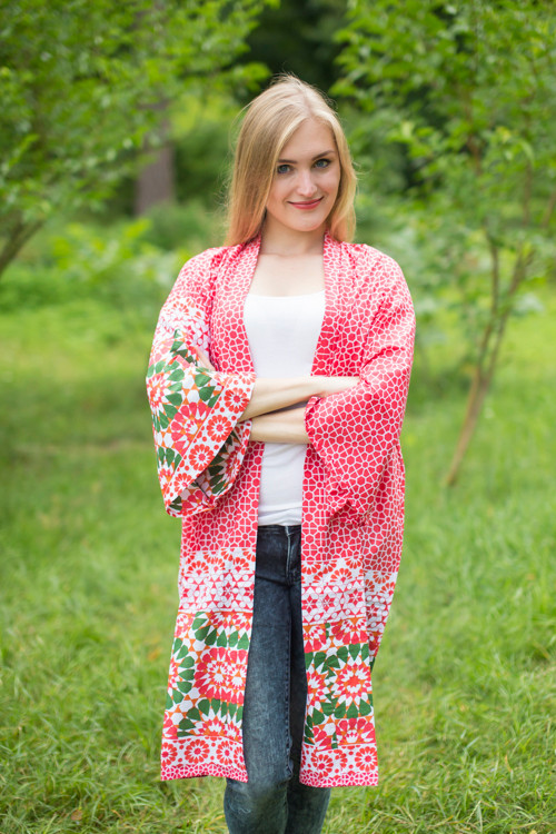 """Free Bird"" Kimono jacket in Round and Round pattern"