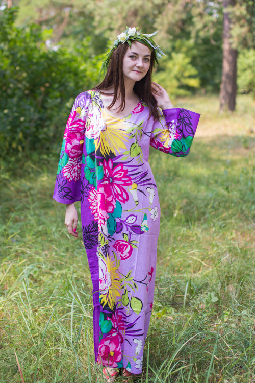 """The Unwind"" kaftan in Jungle of Flowers pattern"