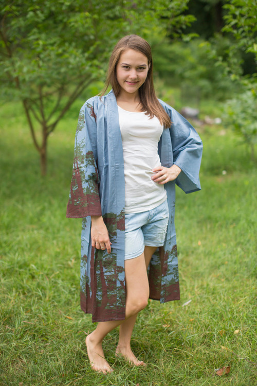 """Free Bird"" Kimono jacket in Tree of Life pattern"