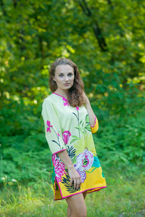 """""""Sun and Sand"""" Beach Tunic in Jungle of Flowers pattern"""