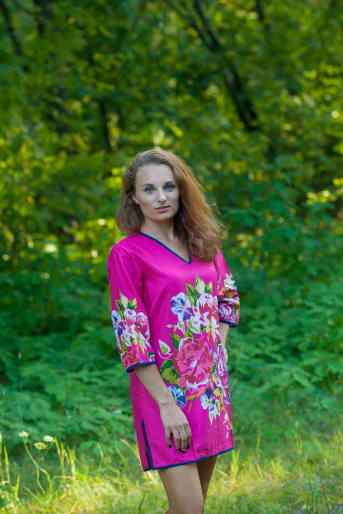 """""""Sun and Sand"""" Beach Tunic in One Long Flower pattern"""