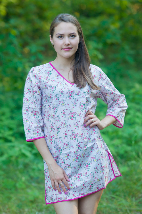 """""""Sun and Sand"""" Beach Tunic in Tiny Blossoms pattern"""