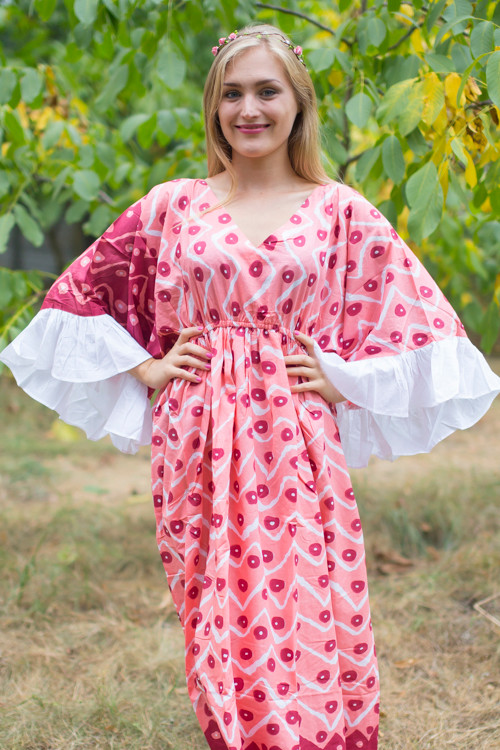 """Pretty Princess"" kaftan in Chevron Dots pattern"