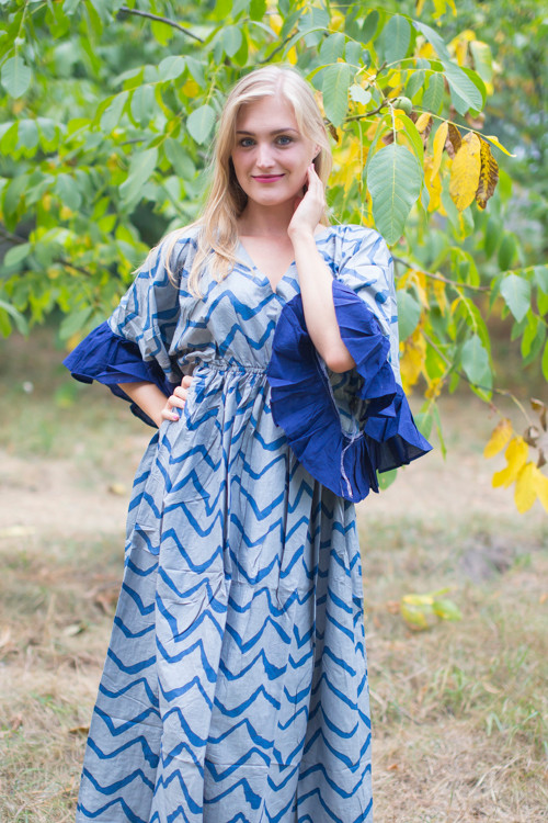 """Pretty Princess"" kaftan in Chevron pattern"