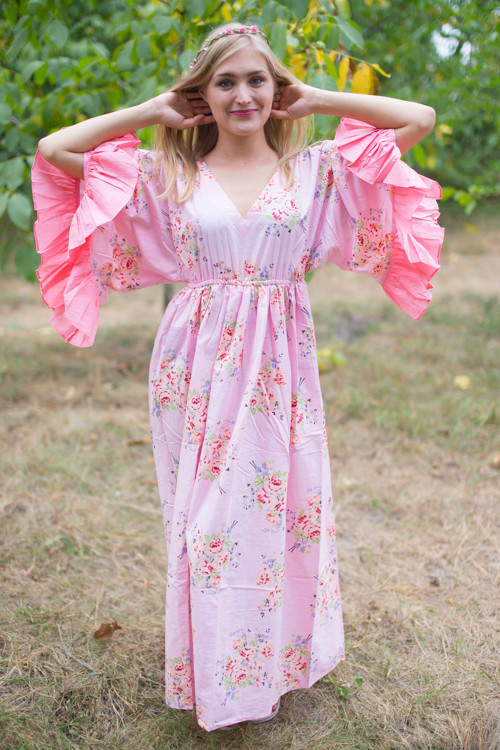 """Pretty Princess"" kaftan in Faded Flowers pattern"