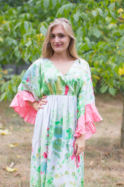 """Pretty Princess"" kaftan in Floral Watercolor Painting pattern"