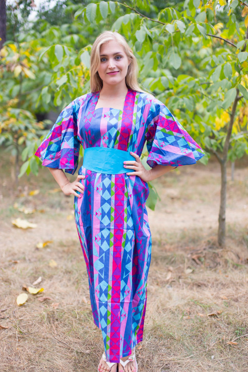 """Beauty, Belt and Beyond"" kaftan in Diamond Aztec pattern"