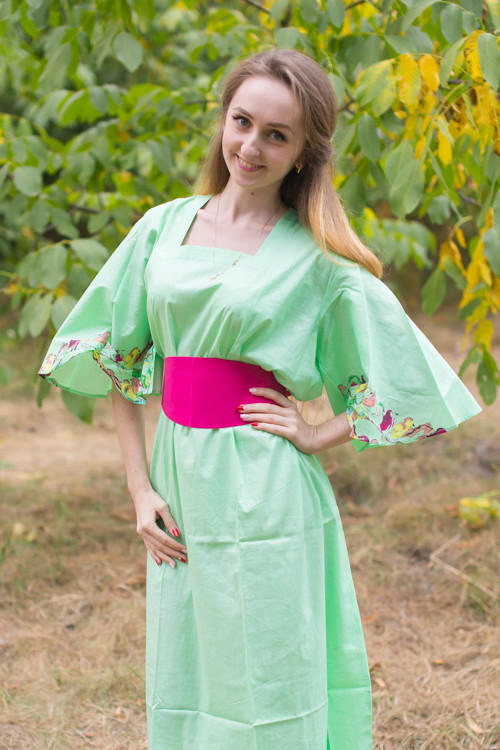 """Beauty, Belt and Beyond"" kaftan in Little Chirpies pattern"