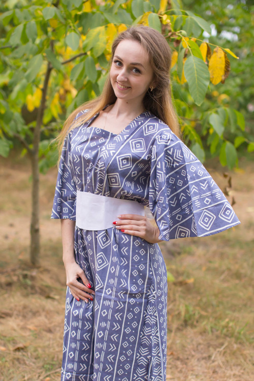 """Beauty, Belt and Beyond"" kaftan in Tribal Aztec pattern"