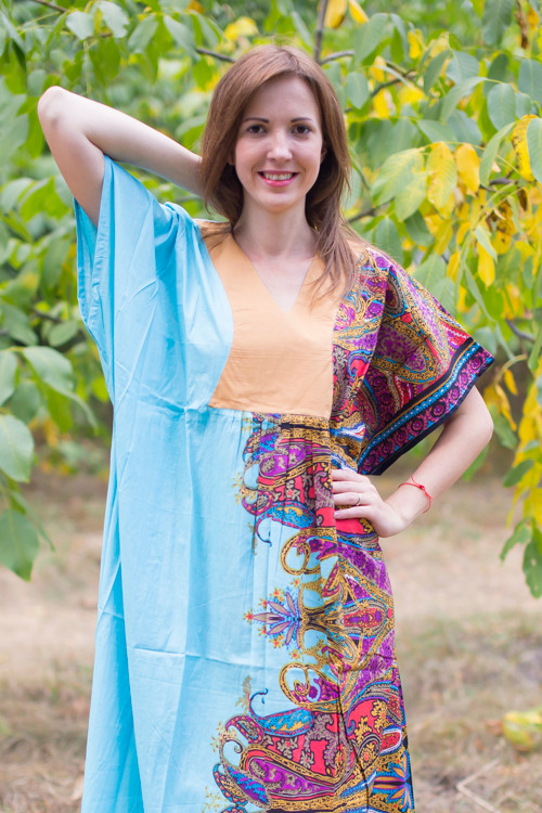 """Flowing River"" kaftan in Cheerful Paisleys pattern"