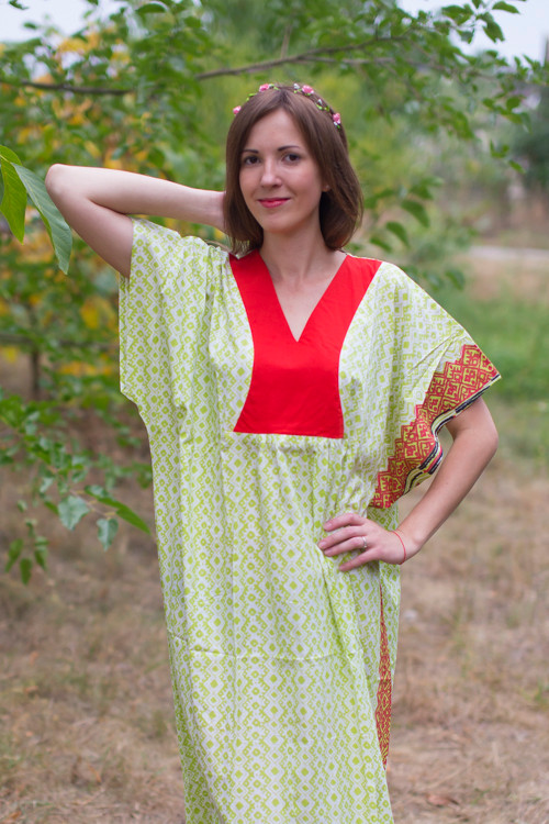 """Flowing River"" kaftan in Geometric Chevron pattern"