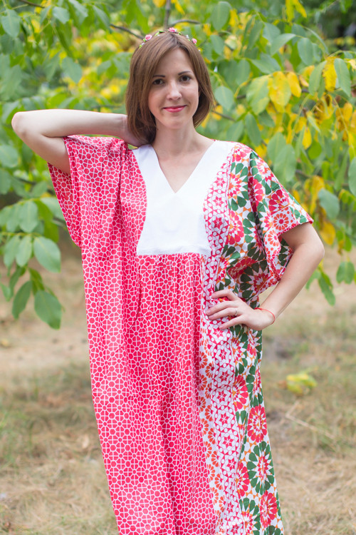 """Flowing River"" kaftan in Round and Round pattern"