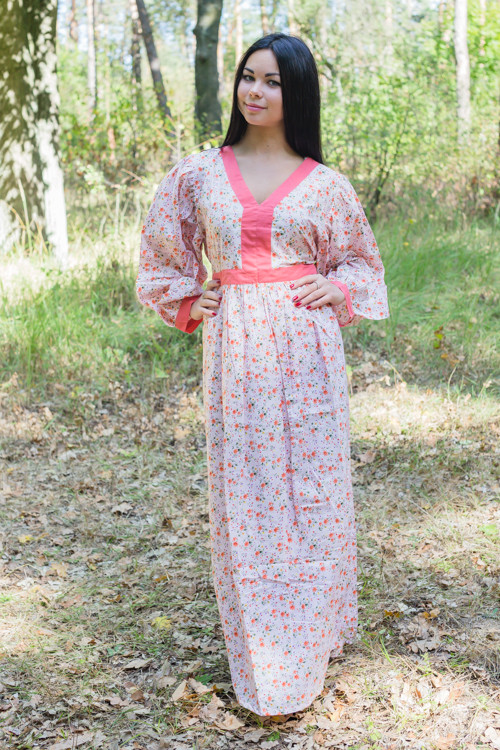 """My Peasant Dress"" kaftan in Starry Florals pattern"