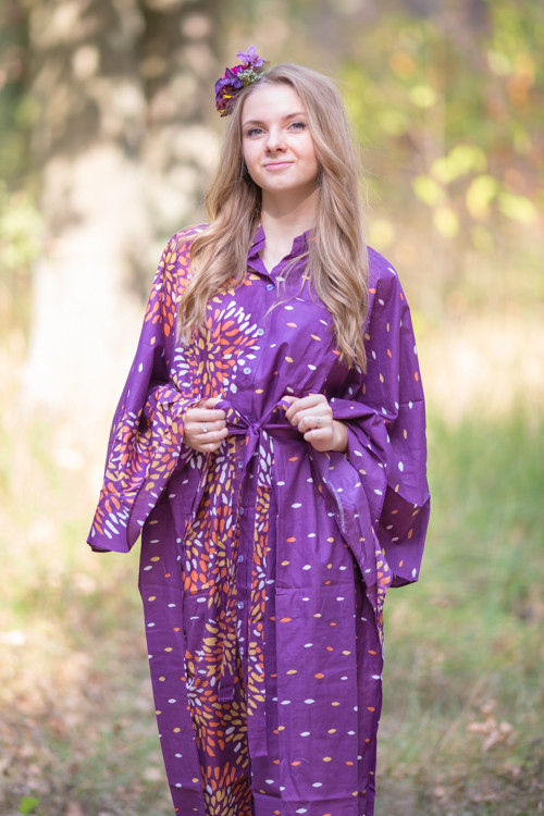 """Oriental Delight"" kaftan in Abstract Floral pattern"