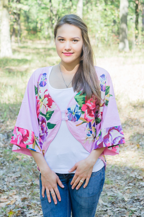 """Fly towards Glory"" Kimono jacket in One Long Flower pattern"