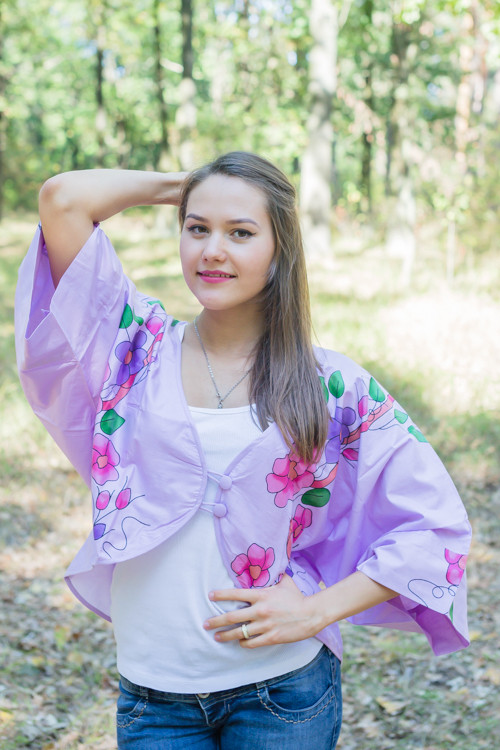 """Fly towards Glory"" Kimono jacket in Swirly Floral Vine pattern"