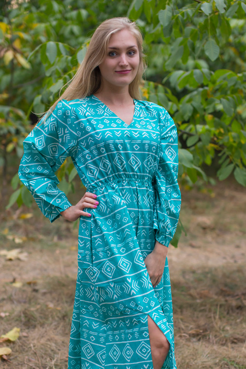 """Shape Me Pretty"" kaftan in Tribal Aztec pattern"
